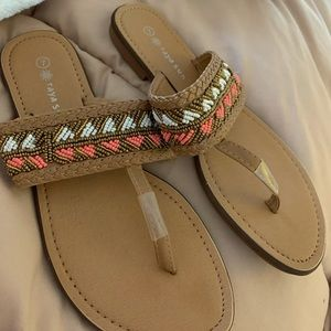 Shoes - Size 7 beaded sandals